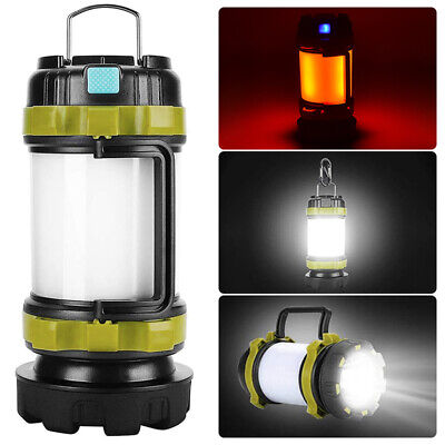 AU24.34 • Buy Portable LED USB Rechargeable Camping Lantern Hiking Tent Outdoor Lamp Light