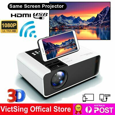 AU93.99 • Buy Full HD 1080P LED Video Projector Smart Home Theatre Cinema USB HDMI Mediaplayer
