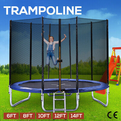 AU199.99 • Buy Trampoline Round Trampolines Enclosure Safety Net Mat Pad Ladder 6 8 10 12 14FT
