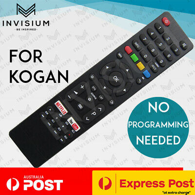 AU26.95 • Buy NEW Replacement TV Remote Control For Kogan Smart TV With NETFLIX + YOUTUBE Key