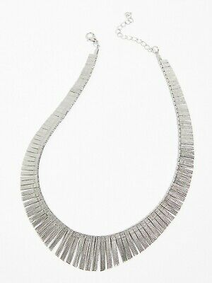 Free People Faye Grecian Collar Necklace Silver NEW • 21£