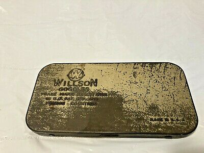 $17.99 • Buy Antique Rectangular Metal Wilson Driving Welding Safety Goggles Case