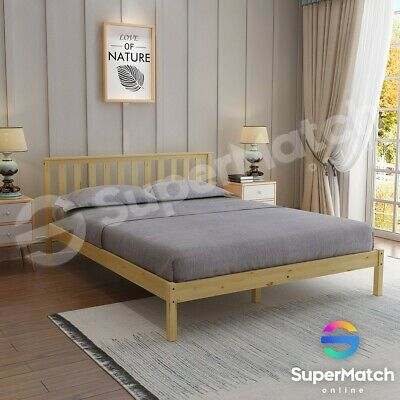 AU159.59 • Buy Double Size Wooden Bed Frame Oak Pine Mattress Base Timber Bedroom Furniture