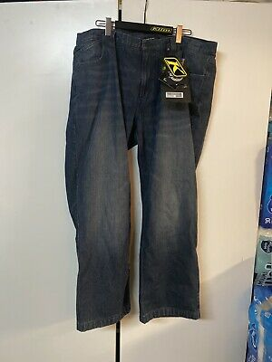 $ CDN429.39 • Buy Klim K Fifty 1 Riding Jeans Denim Pants Dark Blue Size 42 Regular