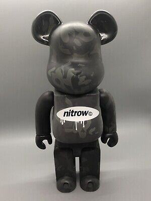 $145 • Buy RARE Black Gray Camo Nitrow Bearbrick 400% Medicom US Seller Camouflage