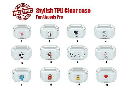 AU6.99 • Buy Shockproof TPU Clear Case Cover For Airpod Cartoon Design Suit Apple Airpods Pro