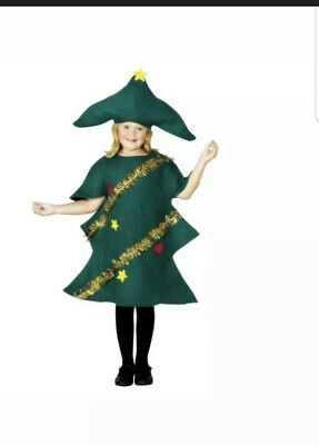 Childs Christmas Tree Costume, Nativity, Christmas Fancy Dress Age 10-12 • 7£
