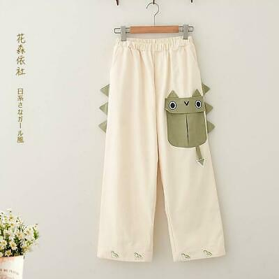 $ CDN46.76 • Buy Japanese Kawaii Mori Girls Casual DinosaurT Rousers Lolita Casual Pants Fall