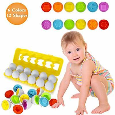 Educational Toys For 1 2 3 4 Year Old Girls Boys- Color Matching Egg Set Gifts • 14.99£
