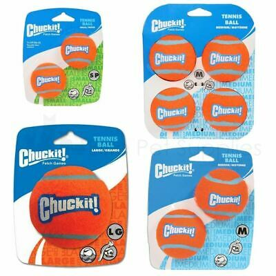 Chuckit Tennis Balls Dog Fetch Floating Throw Toy - S, M Or L • 5.89£