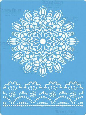 Re-usable Lace Mandala Pattern Stencil Template For Arts Crafts 19.3cm X 14.3cm • 4.25£