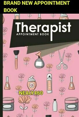Pink Beauty Therapist Appointment Book 4 Column Beautician Diary List Scheduling • 5.95£