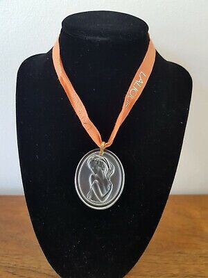 Lalique Crystal Pendant Woman's Head Inscribed Collectable Beautiful Gift Boxed • 145£