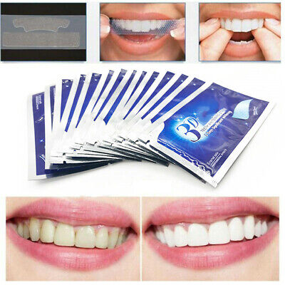 AU10.79 • Buy Teeth Whitening Strips Oral Hygiene Care Double Elastic Teeth Dental Bleaching