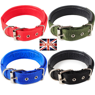 Dog Puppy Collar Nylon Adjustable Collars 4 Sizes 4 Colours UK Pet Accessories  • 2.99£