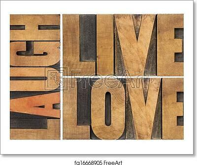 Live, Love, Laugh In Art Print / Canvas Print. Poster, Wall Art, Home Decor - C • 33.30£