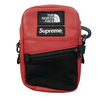 $ CDN713.46 • Buy SUPREME The North Face 18AW Leather Shoulder Bag RED FREE