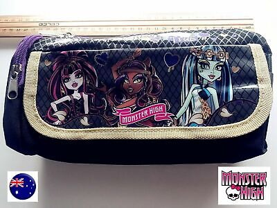 Girl Junior Back To School Monster High Organiser Makeup Pencil Case Purse Bag • 9.02£