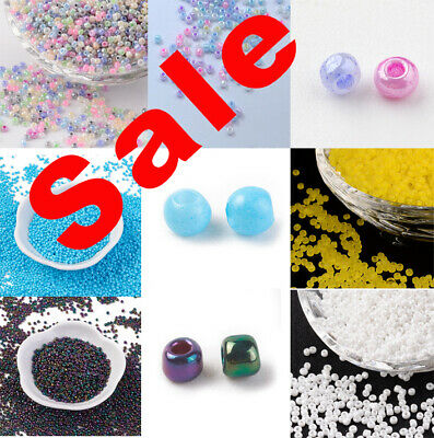 £1.50 • Buy 40g Glass Seed Beads Opaque Size 12/0 2mm Choice Of Colours
