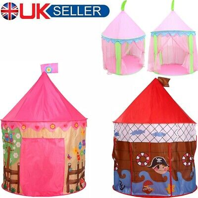 Kids Child Play Tent Girls Princess Tent Pop Up Pink Castle Playhouse Indoor UK • 15.29£