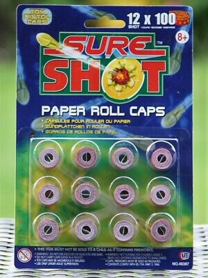 4800 Paper Roll Caps - Toy Cap Gun Pistol Caps - Ring Caps • 8.99£