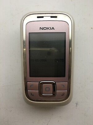 Nokia 6111 - Frosty Pink (O2 GiffGaff Tesco) Mobile Phone • 12.99£