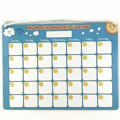 £5.81 • Buy My Monthly Magnetic Calendar - Dry Erase - With Holiday Magnets - Homeschool