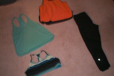 $ CDN78.20 • Buy Rare Lululemon Crops, Bra And 2 Singlet Tanks Sz 10