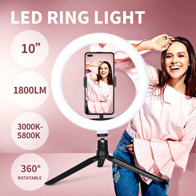 AU26.99 • Buy LED Ring Light With Tripod Stand Phone Holder Dimmable Studio Photo Makeup Lamp