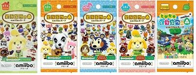 AU15.05 • Buy Nintendo Animal Crossing Amiibo Card Pack 1st 2nd 3rd 4th Plus Series Japan NEW