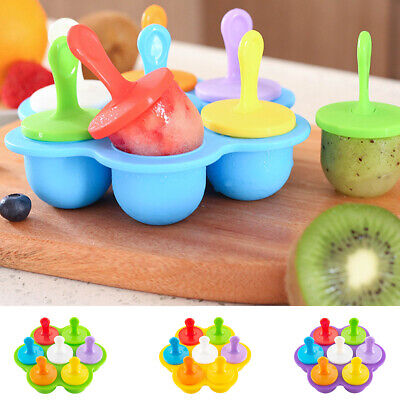 Mini Ice Lolly Cream Maker Mold Tray DIY Popsicle Mould Frozen Yogurt Icebox  • 4.99£