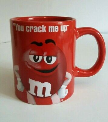 $9.99 • Buy Red M&m Coffee Mug  You Crack Me Up   Mm Candy