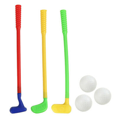 1 Set Plastic Golf Toys Mini Golf Sports Golf Clubs Safe Durable For Babies UK • 8.39£