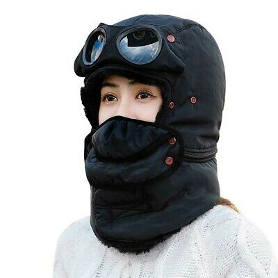 Snow Trapper Hat Trooper Aviator Goggles Earflap Mask Glasses Windproof NF • 13.44£