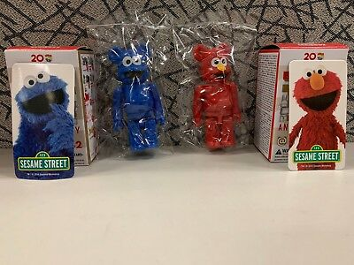 $59.99 • Buy Bearbrick Series 32 S32 Sesame Street Cute Set  Elmo+Cookie Monster  Be@rbrick