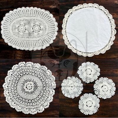 Vintage Style Lace 100% Cotton Table Mats Or Coasters • 3.99£
