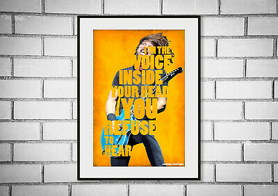 Foo Fighters Nirvana Dave Grohl Typography Quote Art Print Picture • 8.99£