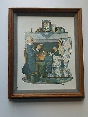 $ CDN166.67 • Buy Norman Rockwell Old Couple And Sitting Chair Framed Canvas
