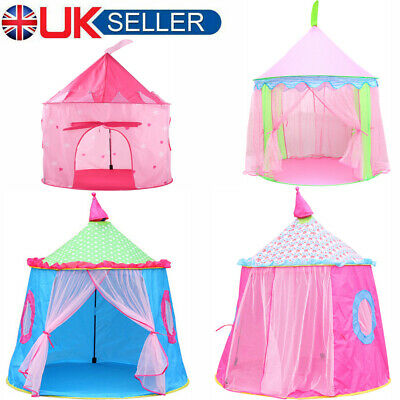 Kids Pop Up Princess Castle Tent Indoor Outdoor Fun Playhouse Play Toy Teepee Uk • 13.57£