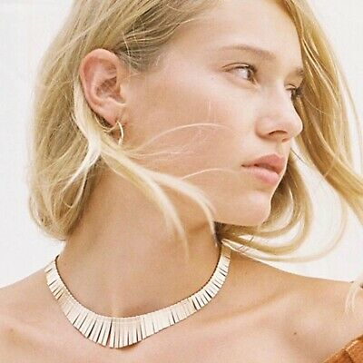 Free People Faye Grecian Collar Necklace Gold  • 21£