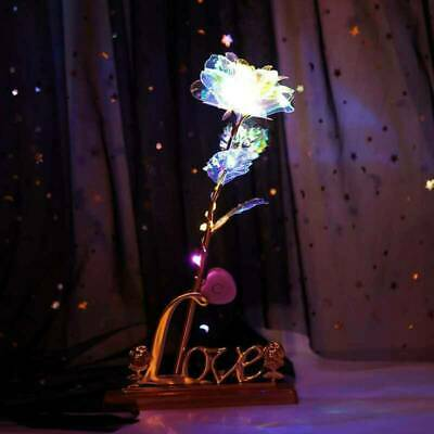 Gold Galaxy Rose Flower Valentines Day Lovers Gift Romantic Flower With Love UK • 6.59£
