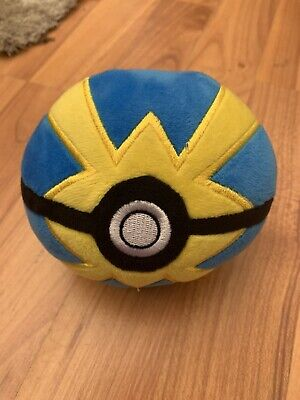 Official Pokemon Pokeball Quick Ball WCT Nintendo Soft Plush Toy • 9.99£