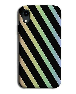 Black And Rainbow Stripe Pattern Phone Case Cover Stripes Lines & Colourful I900 • 9.99£