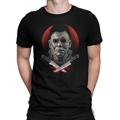 Michael Myers Psycho Friday 13th Hellraiser Film Movie Horror Halloween T Shirt • 6.99£