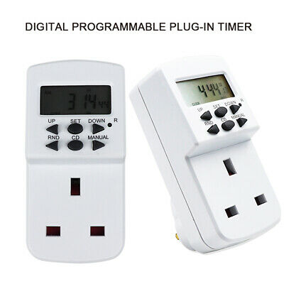 Electronic 24 Hour 7 Day 13a Mains Plug In Digital Timer Time Switch Socket • 6.99£