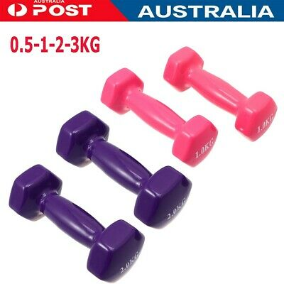 AU36.99 • Buy 1 Pair 0.5-3kg Anti-Slip Dumbbell Pair Weight Lifting Home Gym Fitness Dumbbells