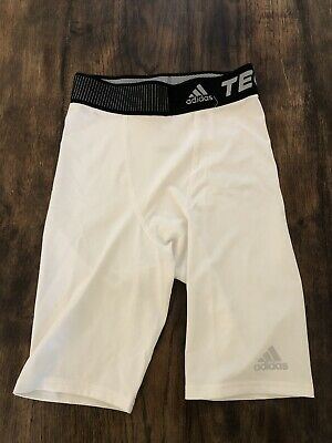 £18 • Buy Adidas Techfit White Compression Shorts Mens Small S