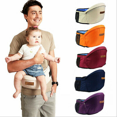 Portable Universal Backpacks Carriers Multifunctional Breathable Infant Hip Seat • 8.99£