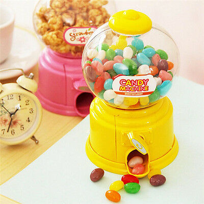Sweets Mini Candy Machine Bubble Gumball Dispenser Coin Bank Kids Toy Gift LS • 5.28£