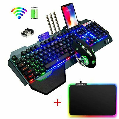 AU81.77 • Buy 3in1 Gaming Set Keyboard Mouse And RGB Mice Pad USB Wireless LED Backlit For PS4